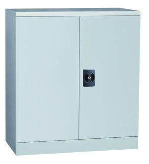 Grey 2 Door Storage Cabinet 1016 x 914 x 400
