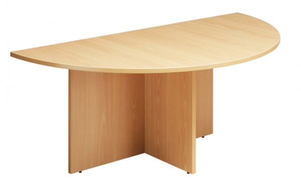 CLM Beech Half Round Conference End - Half circle conference table