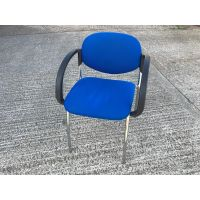 Blue & Chrome Stacking Chair