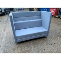 High Back 2 Seater Modular Booth