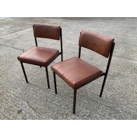 Brown Padded Stacking Chair