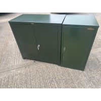 Old Style Dark Green Cabinets