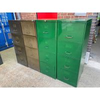 Old Style 4 Drawer Filing Cabinets
