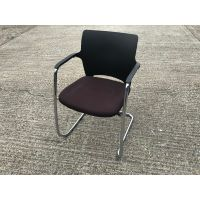 Connection Brown & Chrome Cantilever Chair