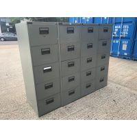 Dark Green 5 Drawer Filing Cabinet