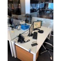Glass Desk Top Virus Screens