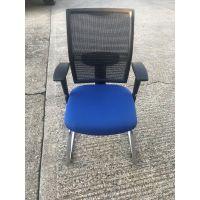 Elite Blue Mesh Cantilever Chair