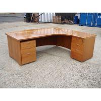 Large Executive Desk with Desk High Pedestal & Mobile Pedestal