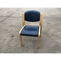 Navy Leather Meeting Chair