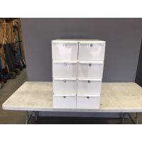 White Safety Deposit Boxes with Keys