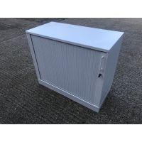 White Tambour Storage Unit