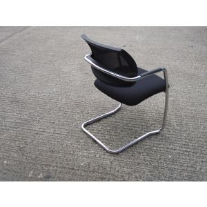 Chrome Framed Mesh Back Meeting Chair