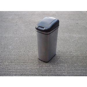 Stainless Steel & Black Recycle Bin