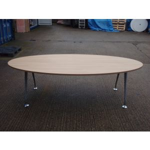 Beech Oval Boardroom Table 2400 x 1200