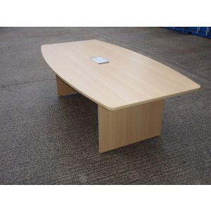 Oak Panel End Boardroom Table 2400 x 1200