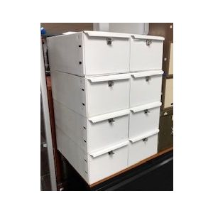 White 2 Draw Index Cabinets