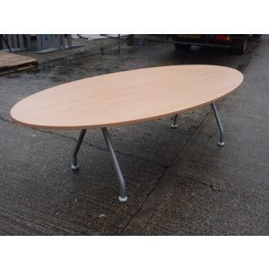 Beech Oval 2400 x 1200 Boardroom Table