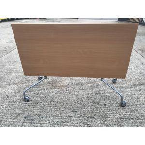 Virco Beech Interlocking Flip Top Table