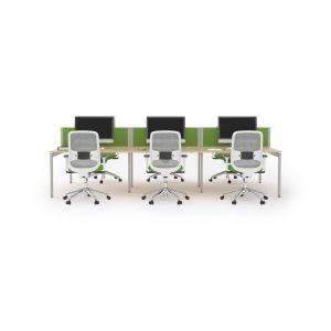 6 User 3600 Double Bench Lite System 1600 Leg Frame
