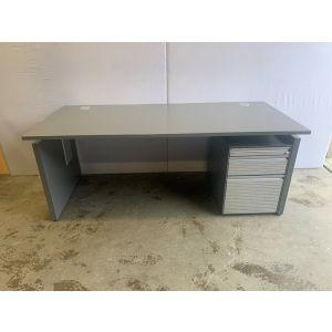 Bene Dark Grey Executive Desk