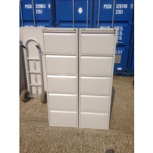 Bisley Grey 5 Drawer Filing Cabinet
