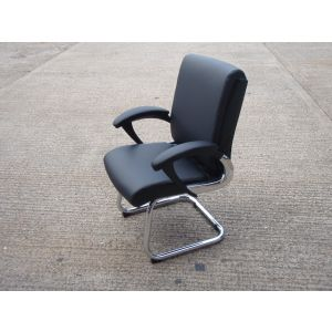 Romeo Black & Chrome Executive Meeting Chair