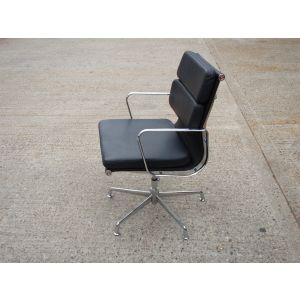 Black Leather Pad Back Chairs