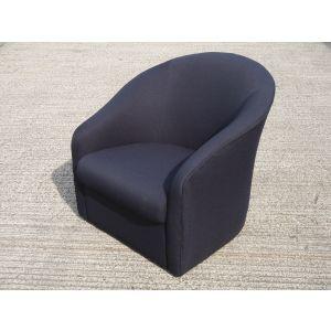 Black Tub Easy Chairs