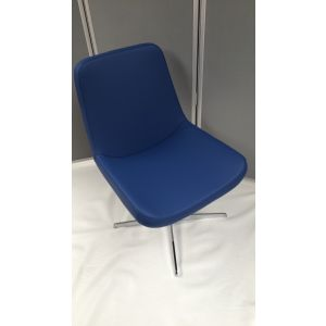 Blue Leather PU Reception Chair