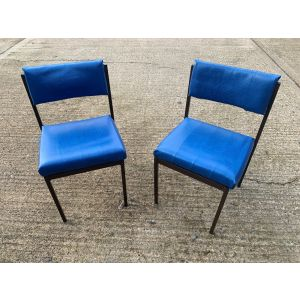 Blue Padded Stacking Chair