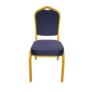 Blue & Gold Frame Banqueting Chair