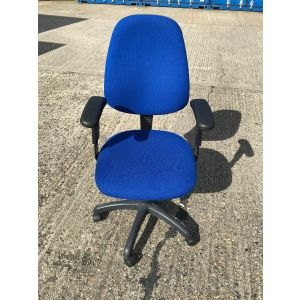 Blue Operator Chair