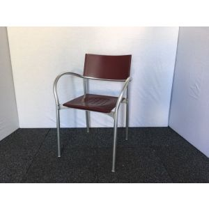 Breeze Canteen Style Chair by Carlo Bartoli