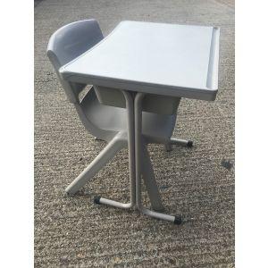 Grey School Desk & Chair