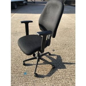Black Multi-Functional Operator Chair