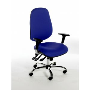 Chrome Task Chairs Adjustable Arms