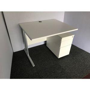 Straight Desk with Slimline Pedestal 1000mmW