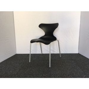 Black Dynamo Canteen Stacking Chair