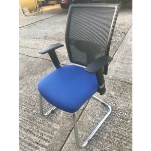 Elite Blue Mesh Cantilever Chair