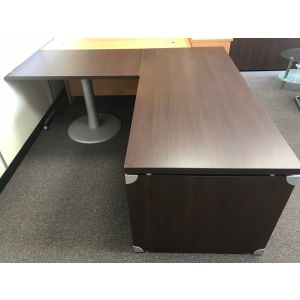 Executive Walnut Desk With Return