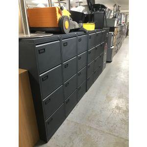 Dark Grey 4 Drawer Filing Cabinet