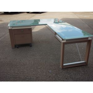 Glass Top Executive Desk 2000 x 900