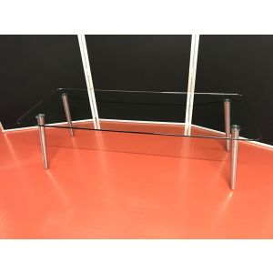 Glass Coffee Table on Chrome Legs