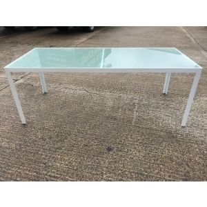 Glazed Glass Rectangular Table