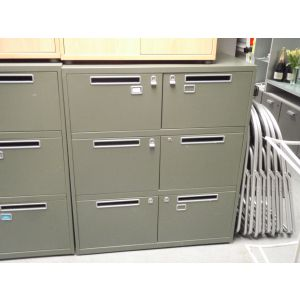Green 6 Door Post Style Cabinets