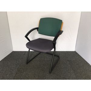 Green Striped Style Visitor Chair