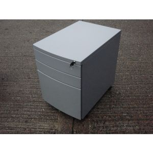Grey Bow Fronted Mobile Pedestal