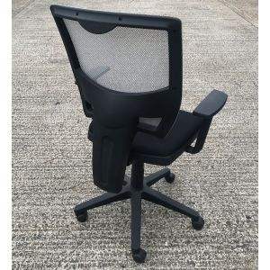 Black & Grey Mesh Operator Chair