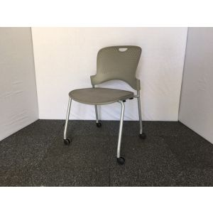 Grey Perforated Chair