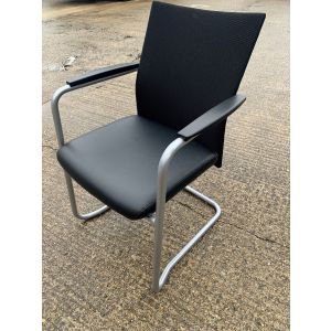 Haworth Mesh & Leather Visitor Chair
